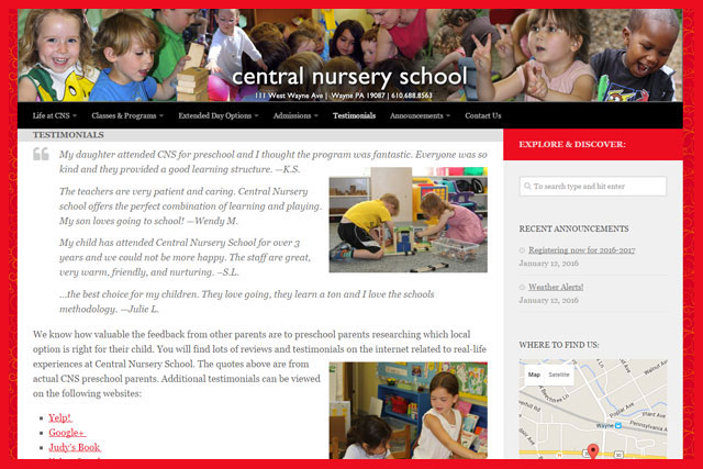 Central Nursery School in Wayne, PA