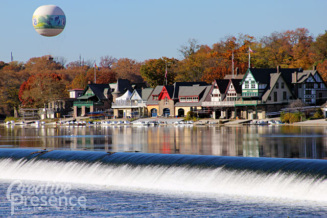 Our City, Philadelphia (Boathouse Row in Autumn)