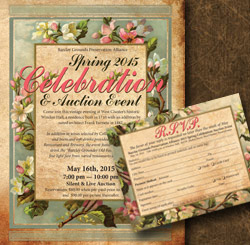 Invitation and RSVP Card for BGPA Spring Fundraiser
