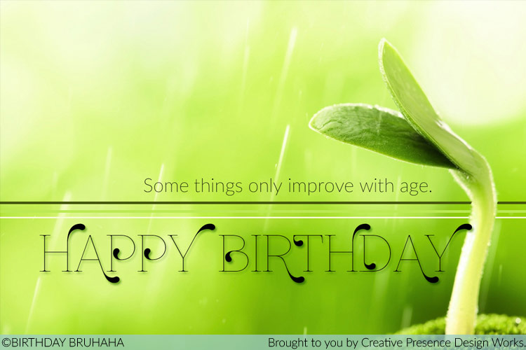 Birthday Bruhaha- Somethings Improve with Age (Sprout)